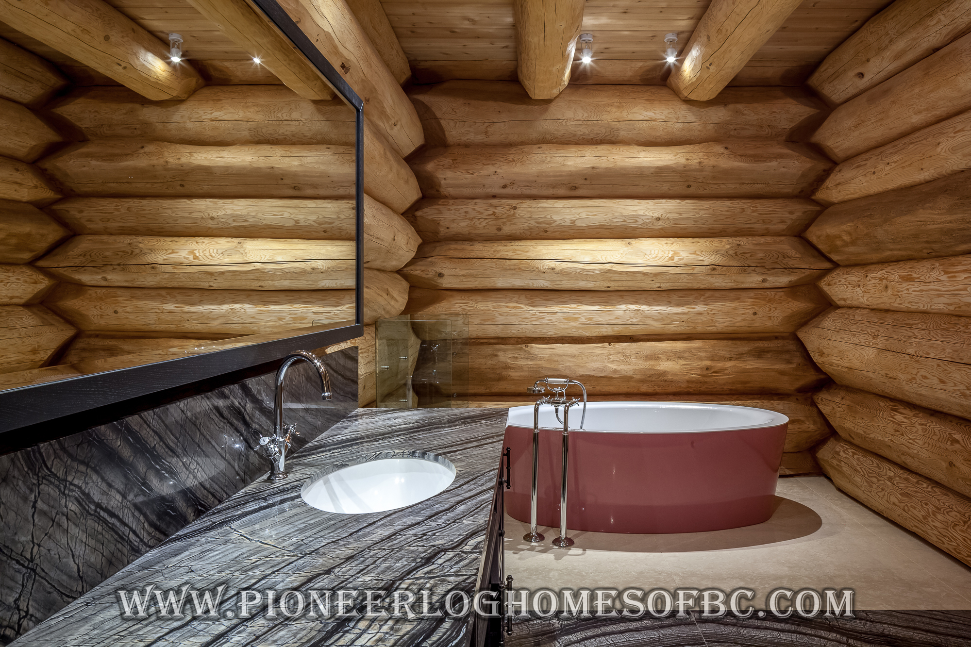 Bedrooms And Bathrooms Log Home And Cabin Interiors Pioneer Log Homes Of Bc
