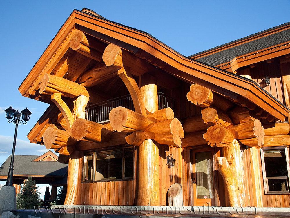 big white log home custom built log homes pioneer log homes of bc. Black Bedroom Furniture Sets. Home Design Ideas