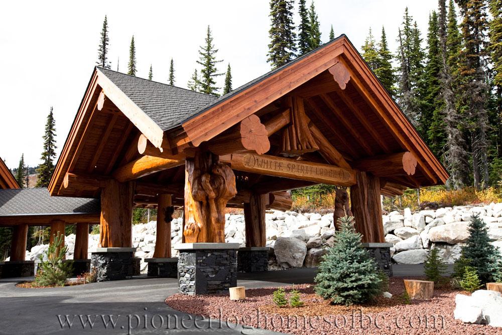 Big White Log Home Custom Built Log Homes Pioneer Log