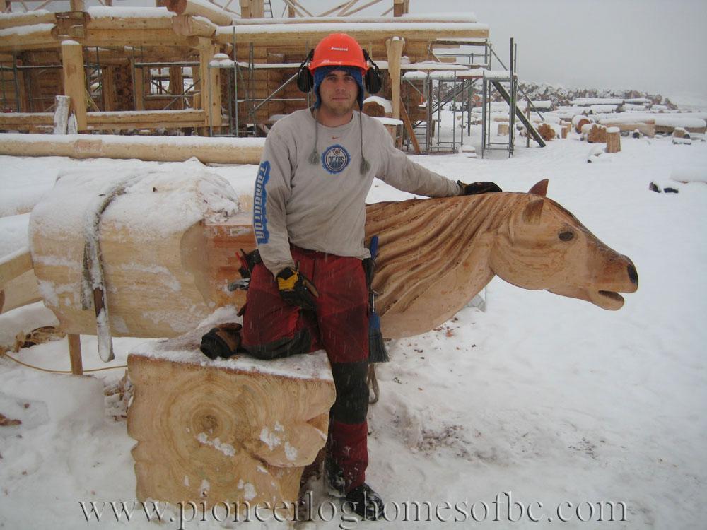 Custom Wood Carvings And Sculptures Pioneer Log Homes Of Bc