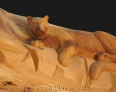 carving-cougar - wood carving