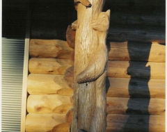 carving-wildlife wood carving