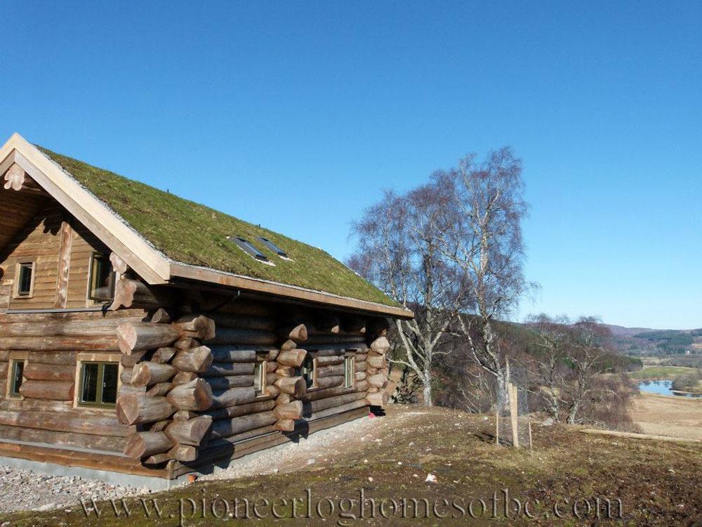 eagle brae highland custom built log homes pioneer log. Black Bedroom Furniture Sets. Home Design Ideas