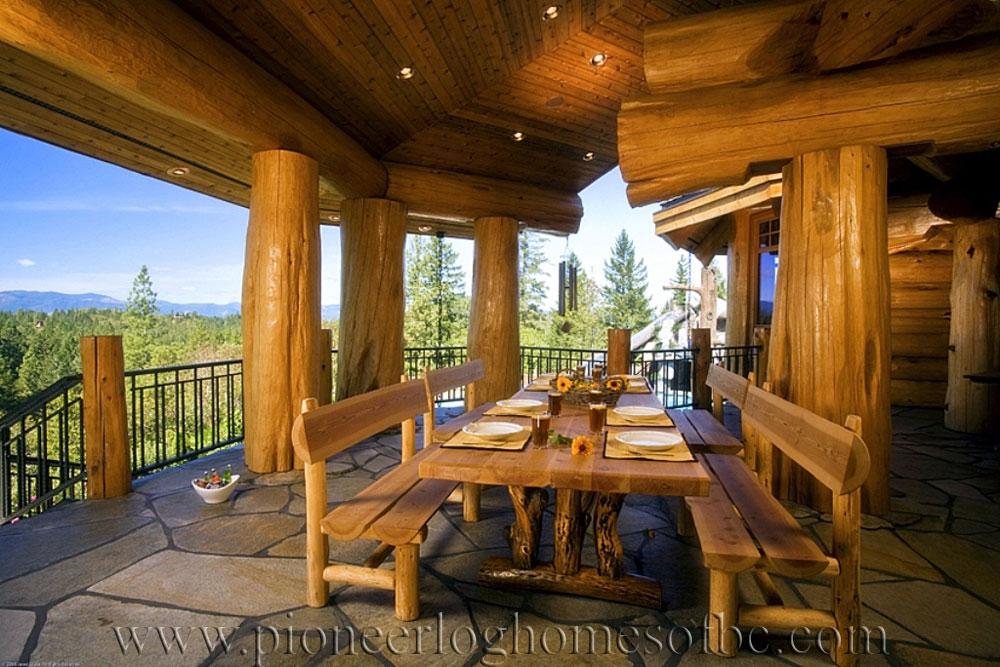 grants pass oregon log home custom built log homes. Black Bedroom Furniture Sets. Home Design Ideas