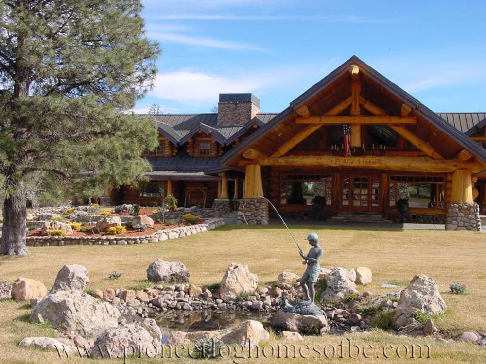 Legacy Lodge Log Home Picture Gallery Arizona USA