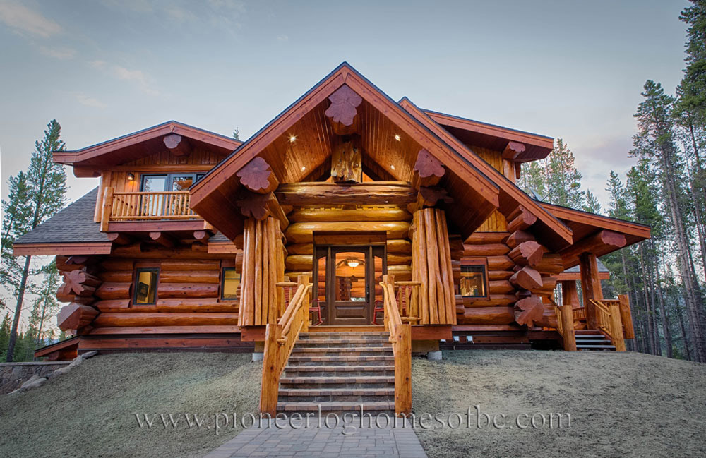 Custom log homes picture gallery bc canada for 5 structural types of log homes