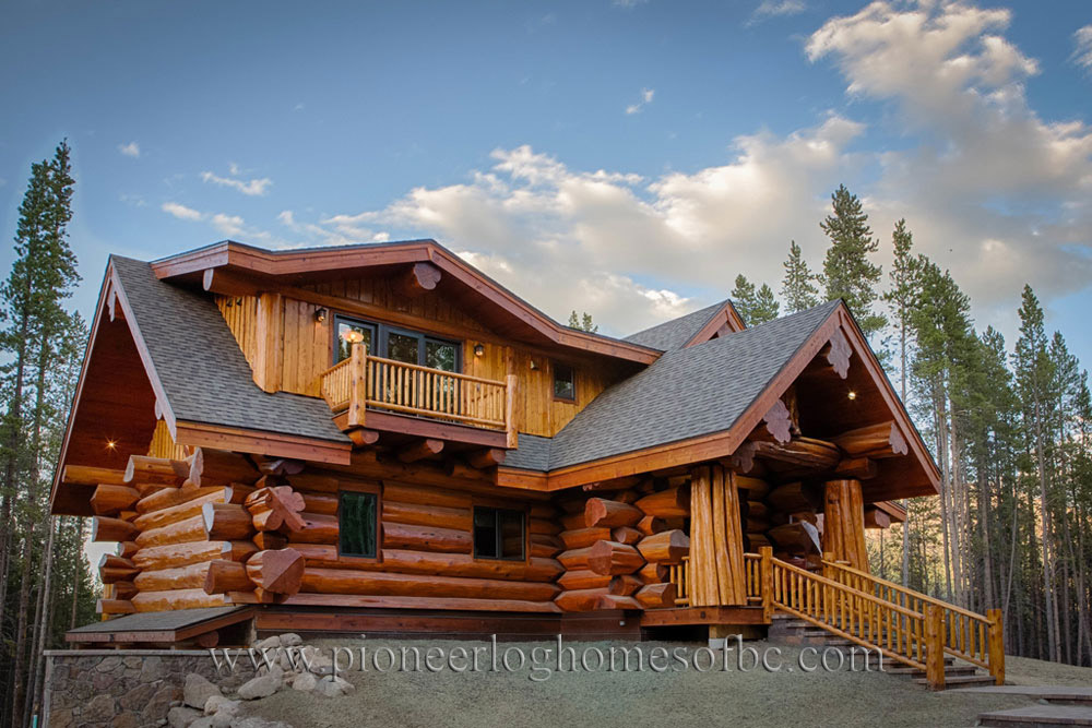 Log Timber Homes ~ Custom log homes picture gallery bc canada