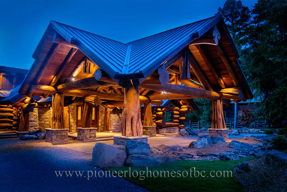 Custom log homes picture gallery bc canada for Log homes plans canada