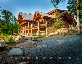 pioneer log homes of bc. Black Bedroom Furniture Sets. Home Design Ideas