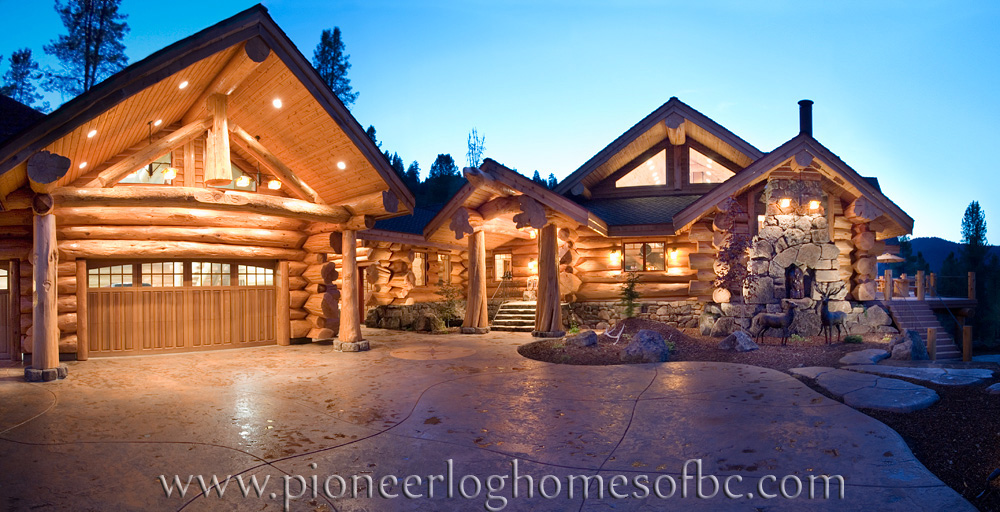 Connu Custom Log Homes Picture Gallery | BC, Canada KU38