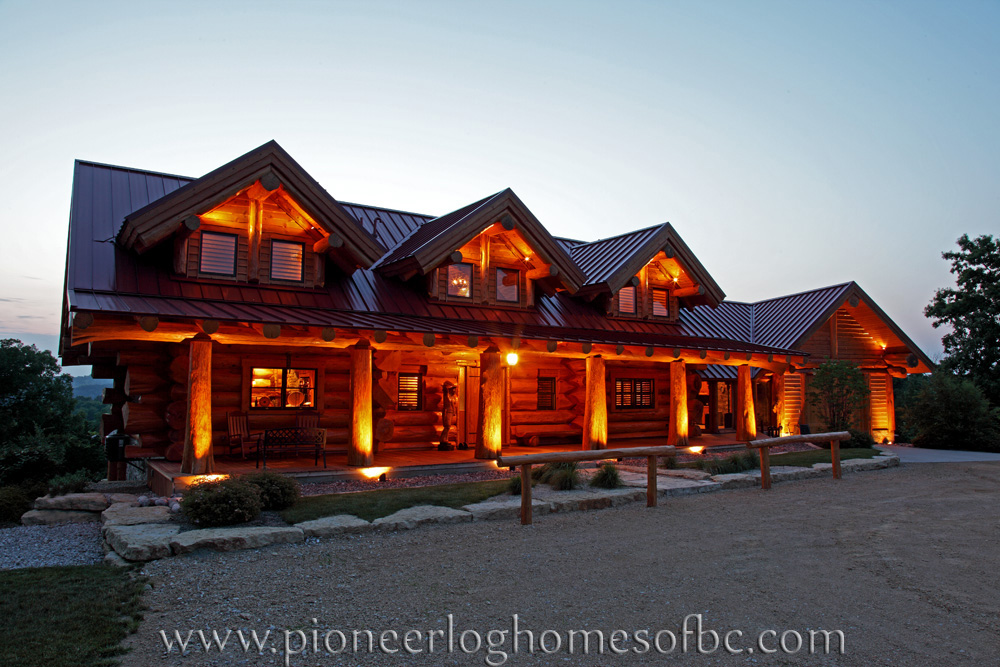 Log Cabin Photo Gallery ~ Custom log homes picture gallery bc canada