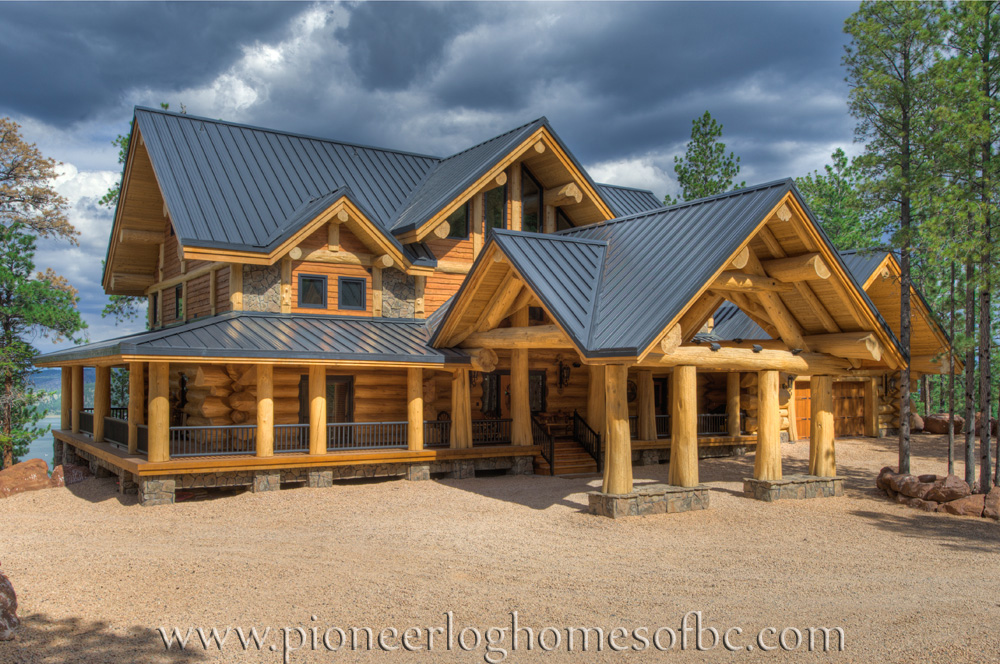 Custom log homes picture gallery bc canada for Unique log homes