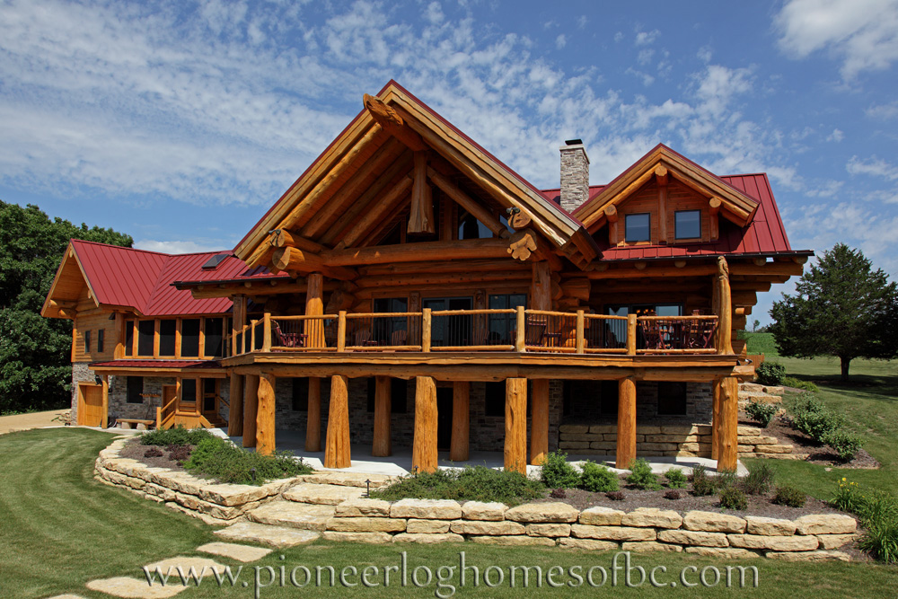 View our gallery of custom log homes here for Unique log homes