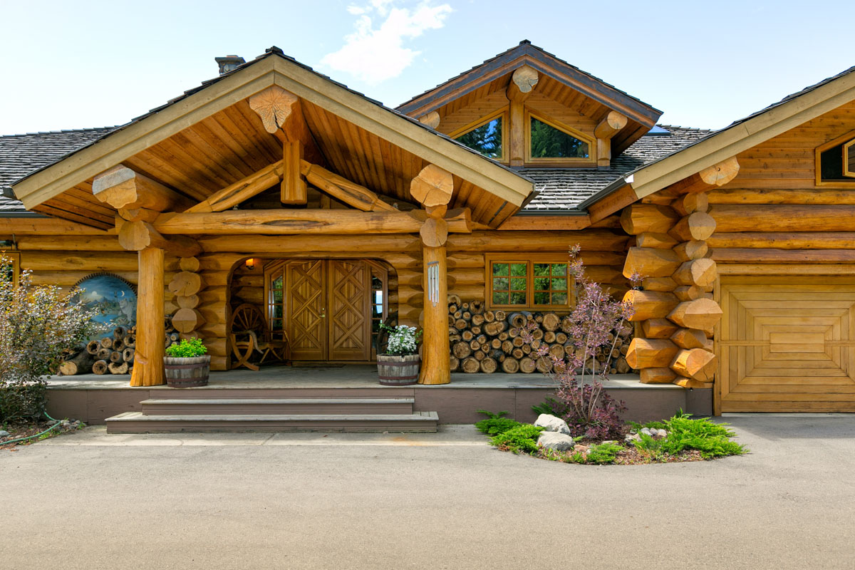 mountainside manor estate vernon bc pioneer log homes of bc