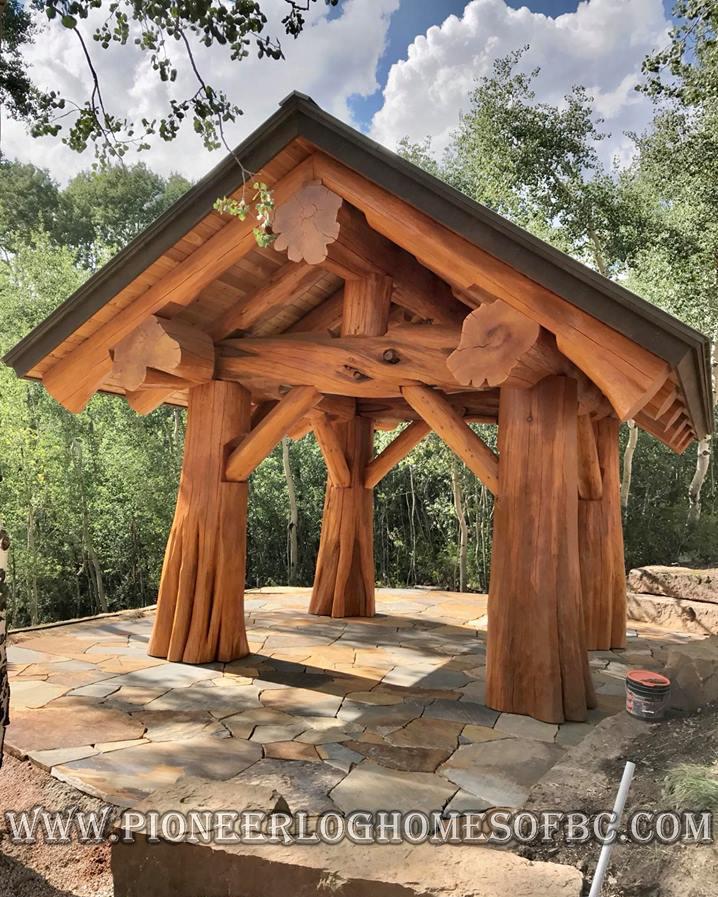 Log Garages, Log Barns, Log Gazebos & Outbuildings