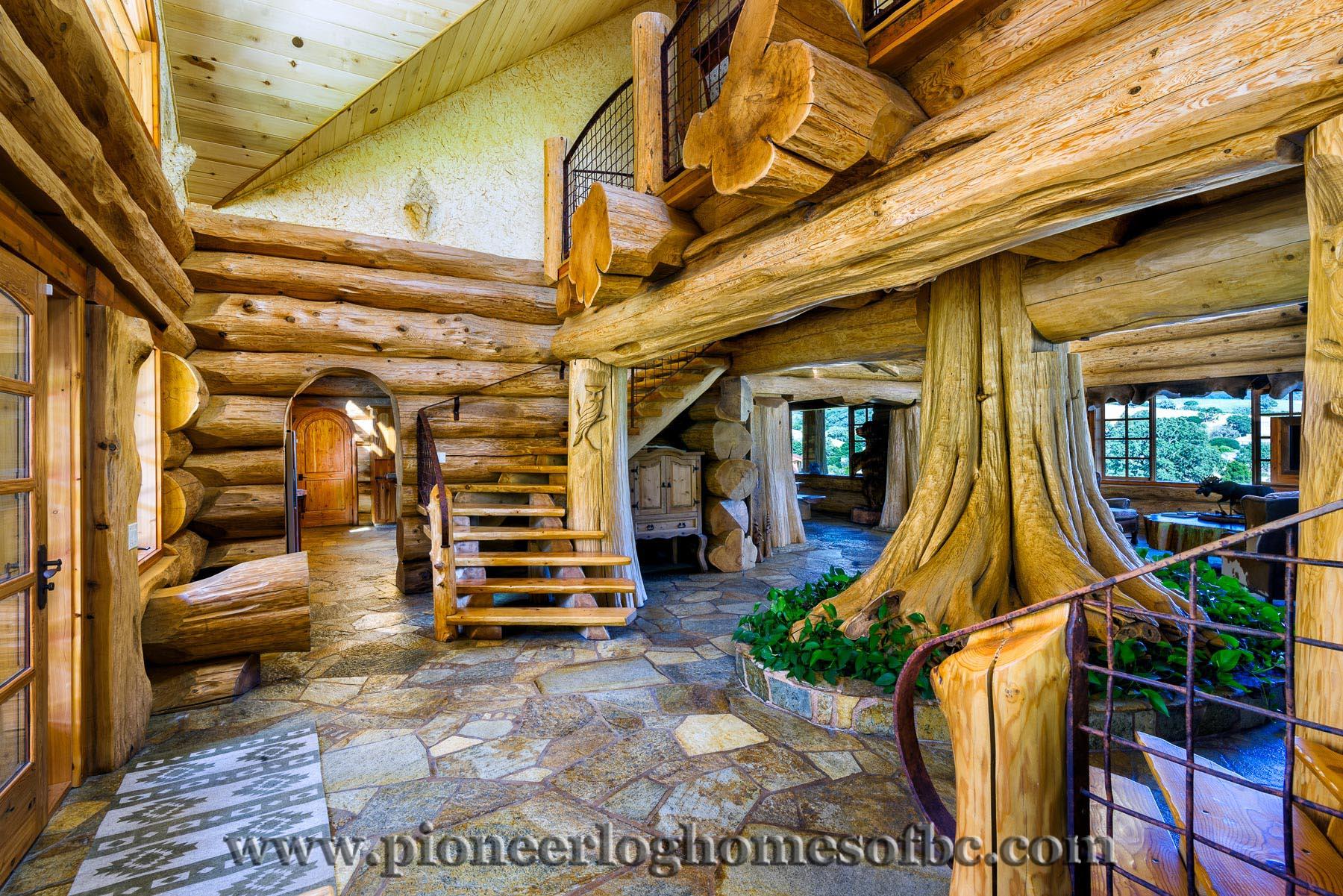 Custom Built Luxury Pioneer Log Home For Sale In California