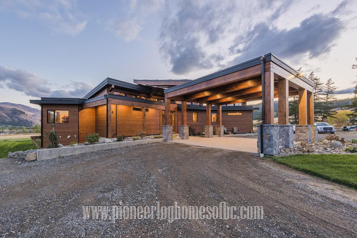 timber frame homes pioneer log homes of bc. Black Bedroom Furniture Sets. Home Design Ideas