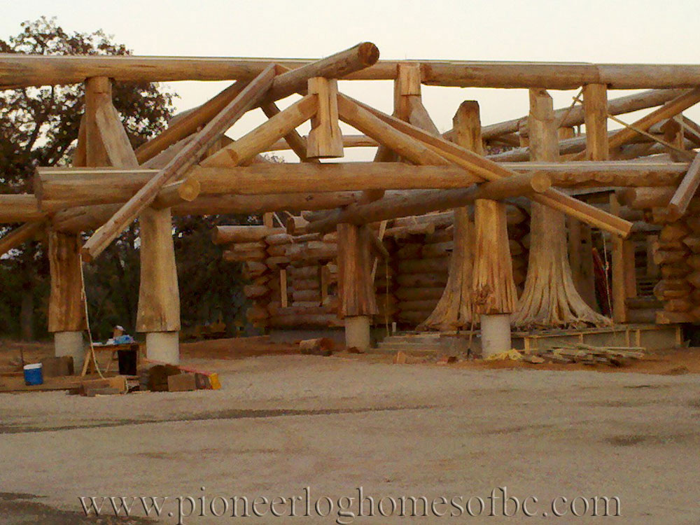 homes under construction log homes and cabins pioneer. Black Bedroom Furniture Sets. Home Design Ideas