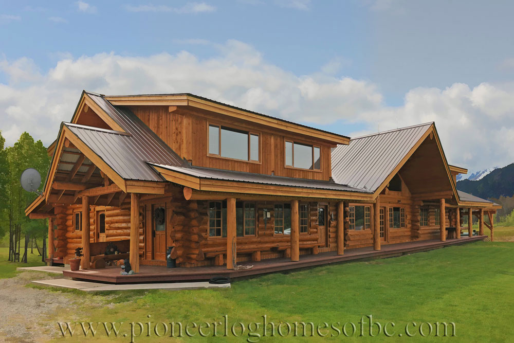 handcrafted log cabin resort for sale in british columbia pioneer log homes of bc. Black Bedroom Furniture Sets. Home Design Ideas