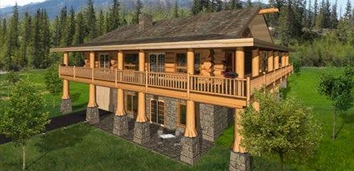 3000 4500 Sqft Log Home And Log Cabin Floor Plans