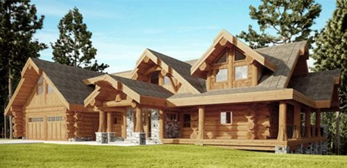 Log homes cabins floor plans bc canada for Maplewood custom homes