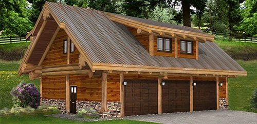 Log homes cabins floor plans bc canada for Log cabin floor plans with garage