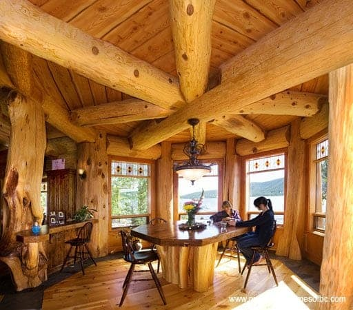 how we build log homes and cabins pioneer log homes of bc. Black Bedroom Furniture Sets. Home Design Ideas