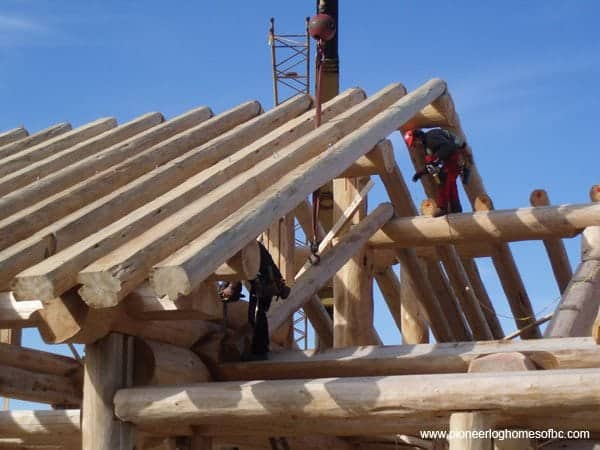 How We Build Log Homes And Cabins Pioneer Log Homes Of Bc