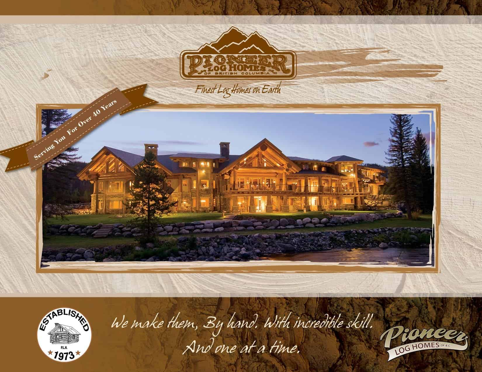 pany Brochure Log Home And Log Cabin Builders