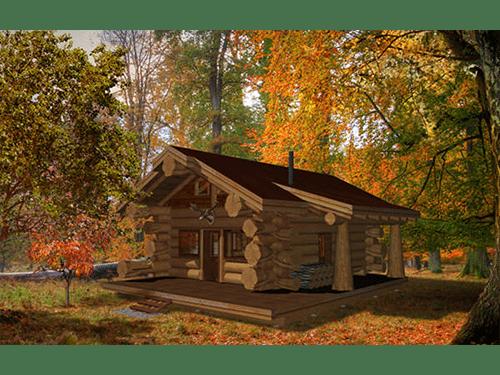 Ultimate Deer Camp 667 Sf Pioneer Log Homes Of Bc