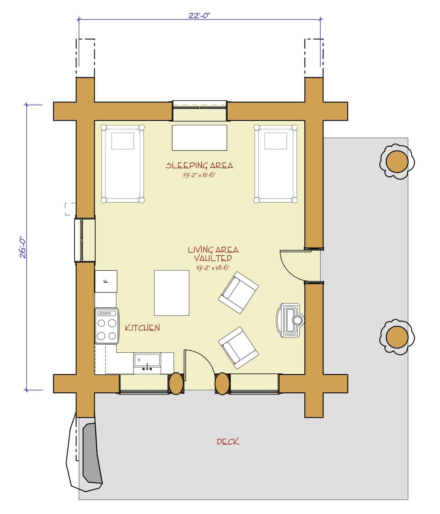 Hunting camp floor plans small hunting camp plans small for Hunting camp house plans