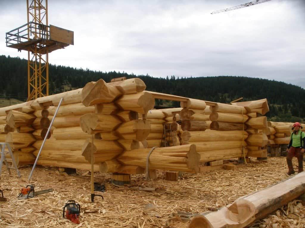 Kazakhstan Sauna build in progress