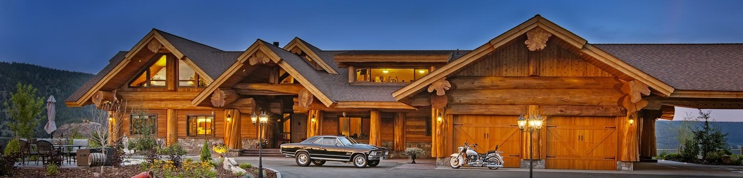 Canadian log home and cabin distributors pioneer log for Garage packages nova scotia