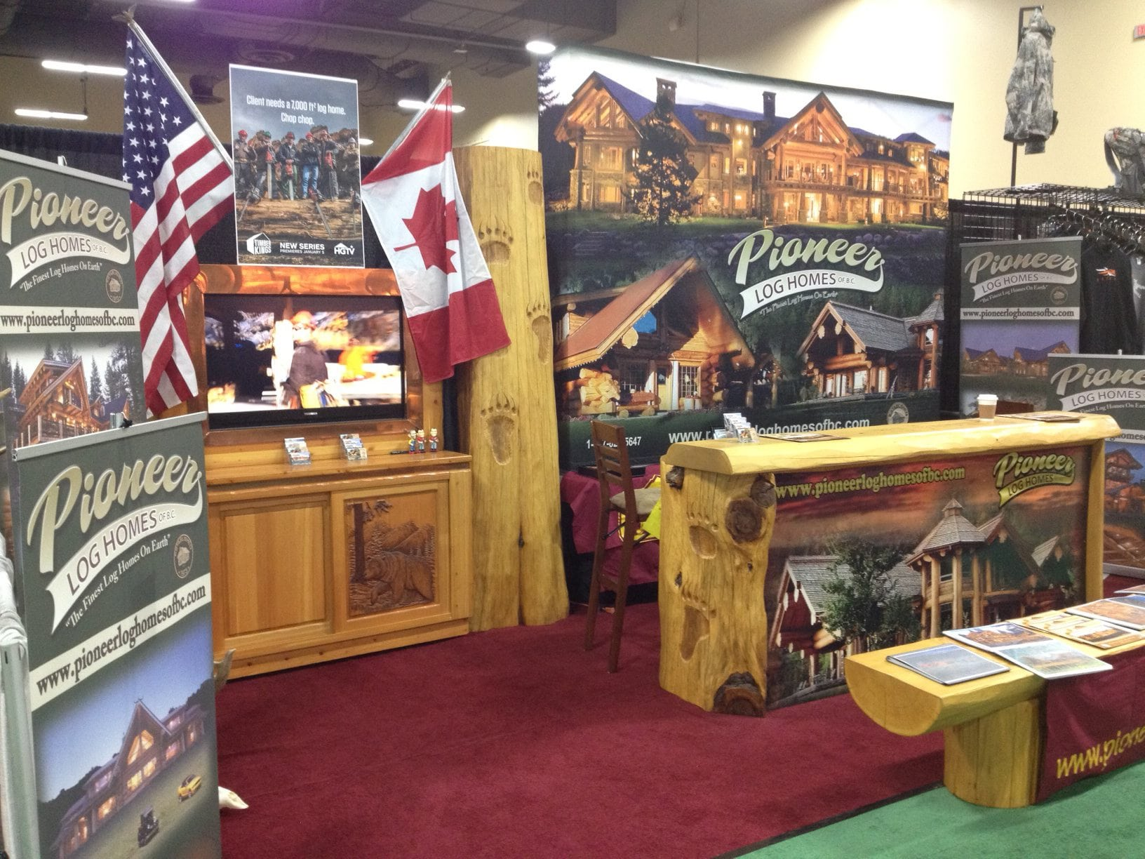 Pioneer Log Homes of BC at the Calgary Home Garden Show