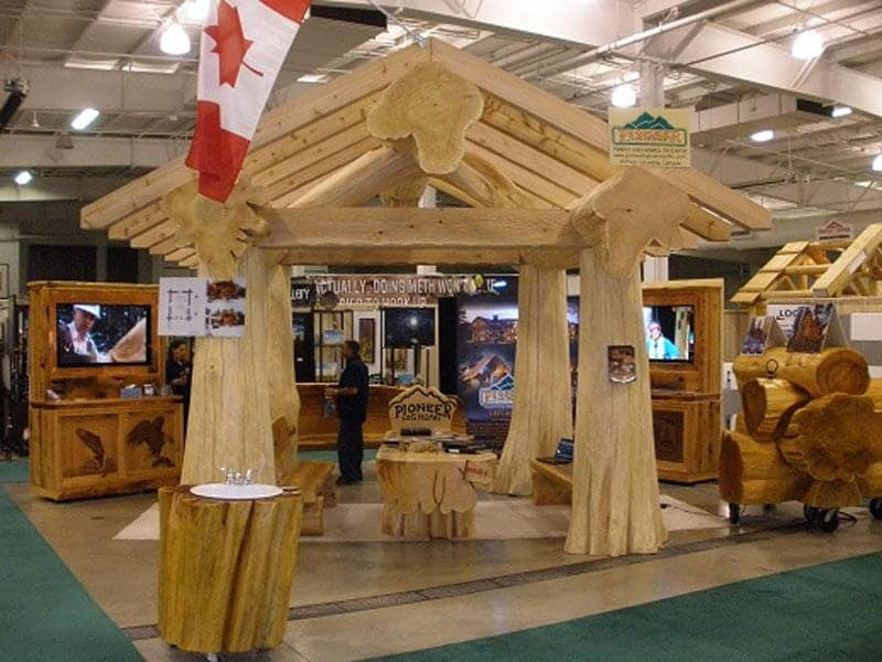 Pioneer Log Homes of BC at the Calgary Home & Garden Show