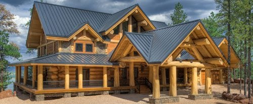 Large custom log home floor plans 4500 sq ft bc for Large log home plans