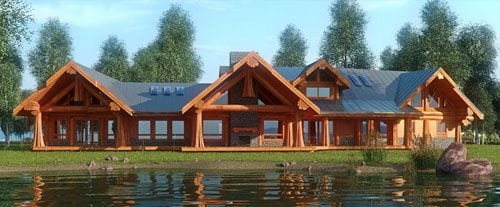 4500 SqFt Log Home And Log Cabin Floor Plans Pioneer Log