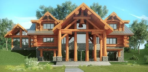 log home and log cabin floor plans pioneer log homes of bc. Black Bedroom Furniture Sets. Home Design Ideas
