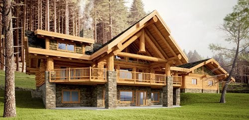 Log Homes Floor Plans 3000 4500 Sq Ft Bc Canada