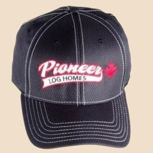 Pioneer Gear black hat black fitted ball cap