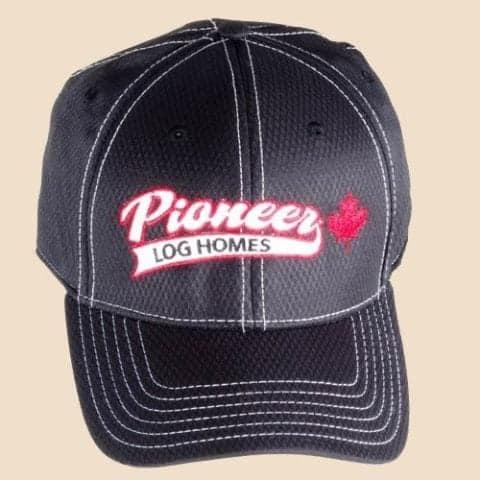 Pioneer Gear black hat black fitted ball cap