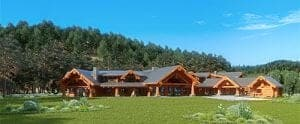 Pioneer Log Homes Forestville Log Home Plan