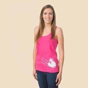 Ladies chainsaw tank top