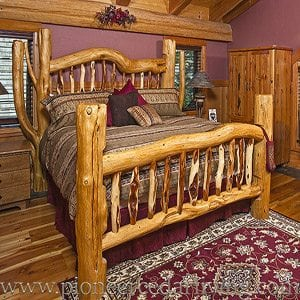 Pioneer log homes of bc handcrafted custom log cabins for Log cabin furniture canada